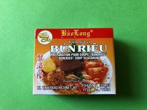 BRAND NEW BAO LONG GIA VI BUN RIEU SOUP SEASONING UNOPENED (PACK OF 4)