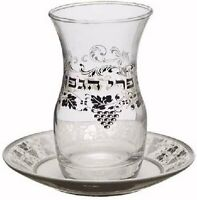 Hammered Finish Stainless Kiddush Wine Cup with Saucer for Shabbat and Holidays 43199