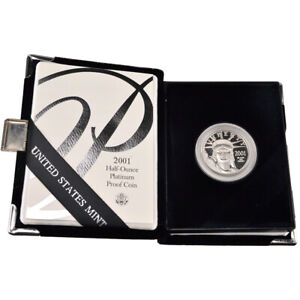 2001-W American Platinum Eagle Proof 1/2 oz $50 in OGP
