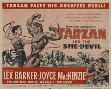 TARZAN AND THE SHE-DEVIL Movie POSTER 22x28 Half Sheet Lex Barker Joyce