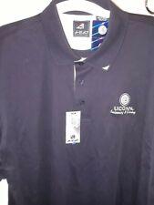 Nwt Uconn logo Ahead Cotton Men's Xxl Golf Shirt Navy Blue Swim & Diving