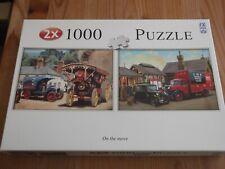 2 x 1000 piece Jigsaw Puzzles, On The Move – Nostalgic Transport scenes