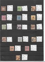 Württemberg 1865 - 1900, Einzelmarken aus Michelnrn.: aus 33 - 62 o, gestempelt