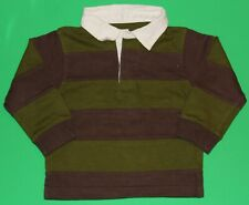 18 24 Guc Gymboree Arctic Adventure Green Brown Rugby Shirt Top Boys