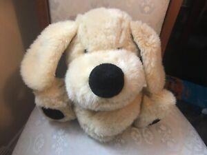 "VINTAGE CHAD VALLEY BEIGE DOG PUPPY FLOPPY EARS 11"" SOFT TOY PLUSH"