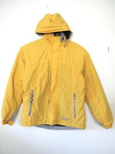 Vtg Patagonia Softshell Fleece Lined Hooded Zip Jacket Yellow Men's Small S