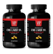 Cod liver oil vitamin A -NORWEGIAN COD LIVER OIL-Increase blood circulation- 2 B