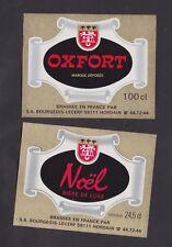 Ancienne étiquette Bière Alcool France  BN24498 Hordain Oxford Noël