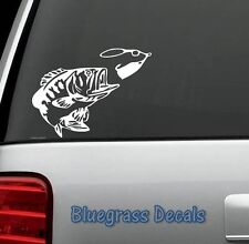 C1028 BASS FISHING SPINNER BAIT WINDOW DECAL STICKER LAPTOP SUV BOAT TRAILER ROD