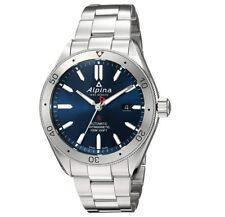 Alpina Men's Swiss Automatic Dark Blue Dial Silver-Tone 44mm Watch AL-525NS5AQ6B