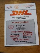 01/04/1990 St Patricks Athletic v Derry City  . No obvious faults, unless descri