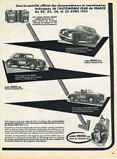 PUBLICITE ADVERTISING  1954    LABO   huiles moteur