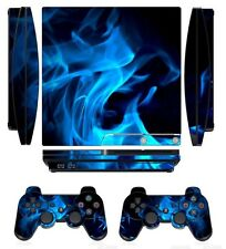 Fire 261 Skin Sticker Cover for PS3 PlayStation 3 Slim and 2 controller skins