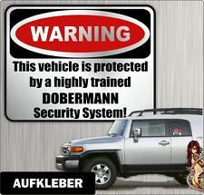 Auto Aufkleber Warning DOBERMANN Hunde by Siviwonder Einbruch Warnaufkleber