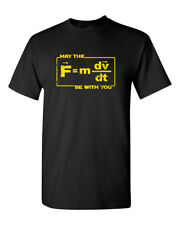 May Force Be With You Space Funny Humor Pun Men Adult Graphic T-Shirt Apparel
