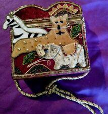 Rare Vintage Braciano Collectibles Sequin Animal Handbag Purse