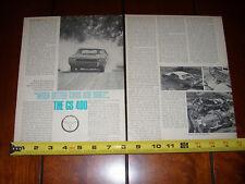 1968 BUICK GS 400 - ORIGINAL VINTAGE ARTICLE