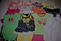 USED 19 PC. LOT OF BABY GIRL CLOTHES 6-12 MONTHS EUC/VGUC