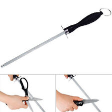 High Carbon Grit Diamond Knife Sharpener Rod Kitchen Sharpening Steel Stick Good