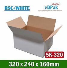 100x Mailing Box 320x240x160mm  -White PLUS-  A4 Size Cardboard 5KG Carton