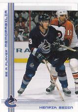 00-01 BAP Memorabilia Henrik Sedin /100 Sapphire Blue Parallel Canucks 2000