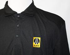 AJAX The Future is Riding on AJAX Logo Polo Shirt Black XL CB DryTec Pristine