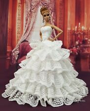Eaki Vintage Bride Silkstone Barbie Fashion Royalty Evening Dress Outfit Gown FR