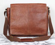 Marks & Spencers Collezione Tan Brown Leather Satchel Shoulder Laptop Bag Mens