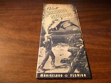 Late 1930's Visit Marine Studios Marineland Florida Brochure