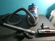 Bissell Revolution Bagless Canister Vacuum Blue Cyclonic Action cord rewind