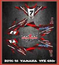 yfz450r YFZ 450 14- up Yamaha FULL SEMI CUSTOM GRAPHICS KIT Faast3