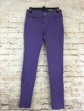 J Brand Super Skinny Ankle Dark Purple Jeans Pants High Rise Size 28