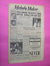melody maker. 21st juni 1952. jazz & swing etc. musik magazin. oldtimer magazin