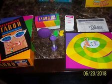 Celebrity Taboo + Taboo Cardset and card, rules, and board, pieces for Taboo Jr.