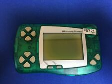 P6721 Bandai WonderSwan WS Skeleton Green Console Japan Junk For parts Express