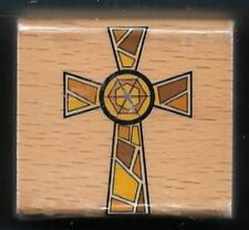 CELTIC CROSS Religious Holiday Gift Tag Card NEW STAMP CRAFT wood mount RUBBER