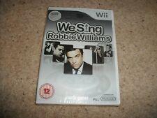 Nintendo Wii-We Sing Robbie Williams Karaoke PAL Spiel (Neu & Versiegelt) selten