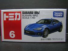TAKARA TOMY TOMICA 1:60 SUBARU BRZ DIECAST CAR # 6 blue
