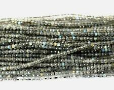 """13"""" STRAND FINE MICRO FACETED CUT LABRADORITE BEADS ROUND 2 MM 1 LINE #D9557-b"""