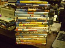(35) Childrens Animal DVD Lot: Disney Finding Nemo Brother Bear Rio Ice Age MORE