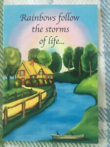 New Blue Mountain Arts Card Encouragement RAINBOWS FOLLOW THE STORMS OF LIFE