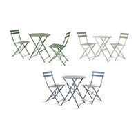 Deluxe Garden Bistro Outdoor Metal Patio Set Weather Proof Folding Furniture UK
