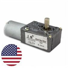 GW370 12V 8RPM DC miniature Worm Reduction Geared motor low speed Electric Motor