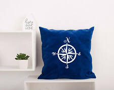 Compass Pillow Covers. Nautical Bedding Pillowcase. Decorative Pillow #20