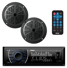 "Bluetooth Marine MP3/USB/SD AM/FM Receiver Stereo & 5.25"" Speaker Kit"