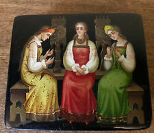 Estate Russian Lacquer Box , 1983 , Signed by Artist