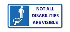 Pas toutes les déficiences sont visibles-Statique Accrocher Disabled Vinyle, Autocollant Voiture