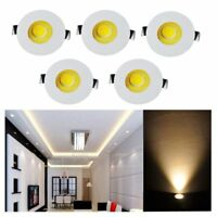5pcs 3W LED Recessed Small Cabinet Mini Spot Lamp Ceiling Downlight Kit Fixture