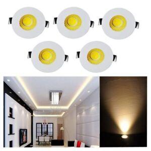 5x Mini 3W LED Recessed Small Cabinet Spot Lamp Ceiling Downlight Kit Fixture