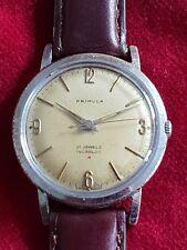 Swiss Made Gents Vintage Primula 21j Jewel Incabloc Mechanical Wrist Watch